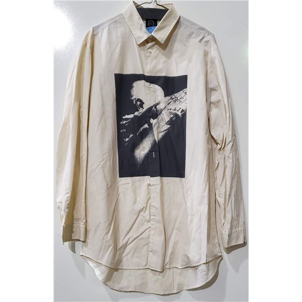 Alexander McQueen Button Up Shirt with Graphic Size 52