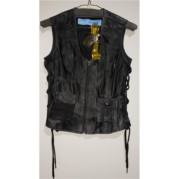 Leather Vest and Sunglasses from the show