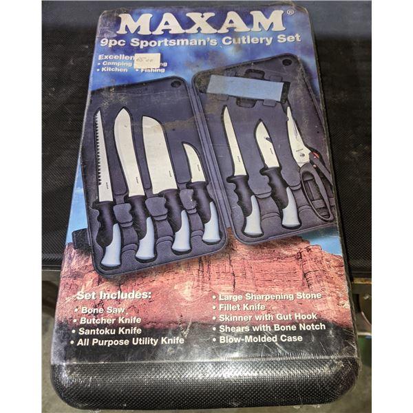 Maxam 9pc Sportman's Cutlery set (brand new in box)