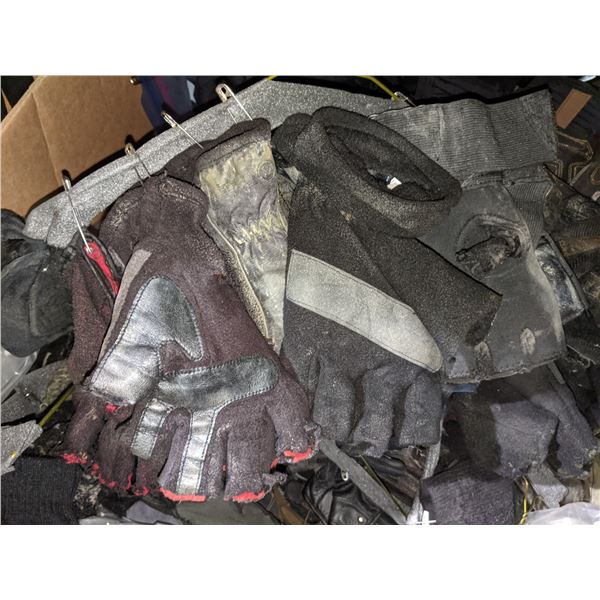 Box of Assorted Gloves and Clothing from Sci Fi Show
