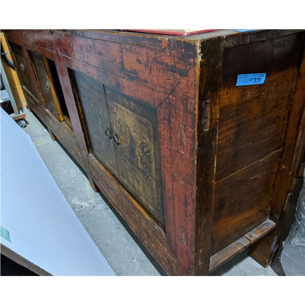 Extremely large Antique cabinet made in India, approx 150 years old, comes from MOES FURNITURE