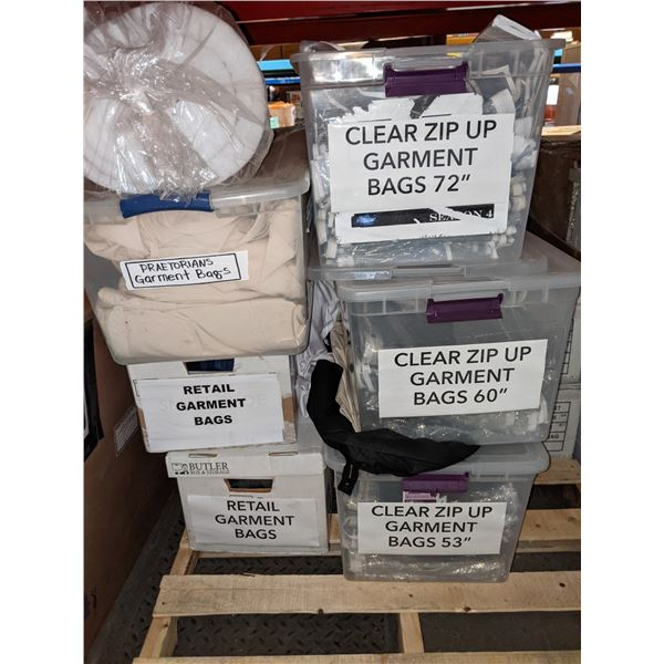 Large Lot of Paddings and Garment Bags