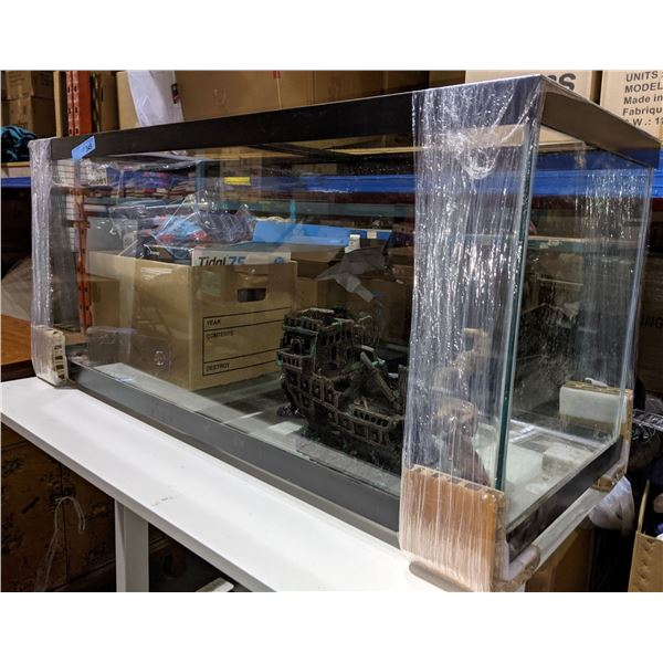 Aquarium with Desk and Contents