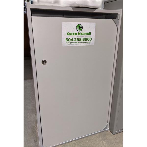 Green Machine Paper Shredder and Cabinet