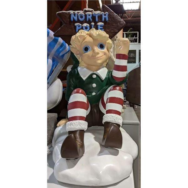 Colourful Christmas Elf Figure