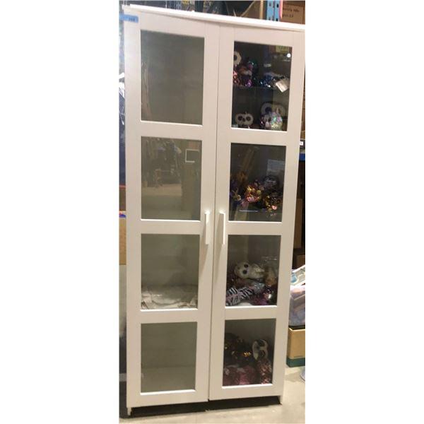 "white shelf / display unit - approx. 75"" tall x 13.5"" wide x 31.5"""