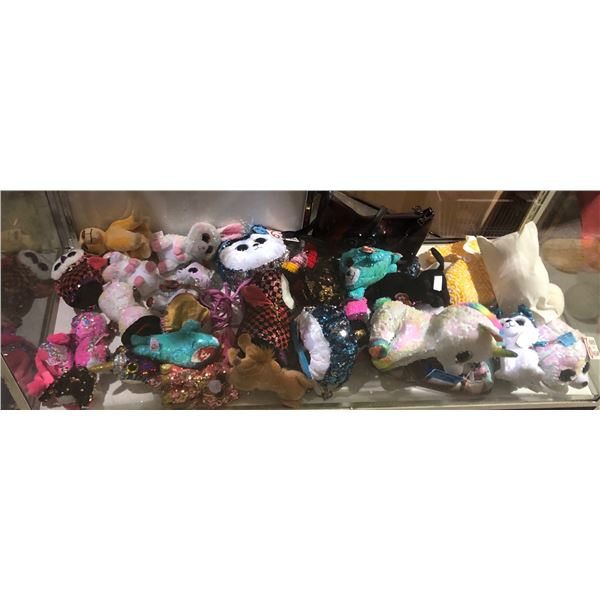 large lot of Disney toys stuffed toys and purses Beanie Babies