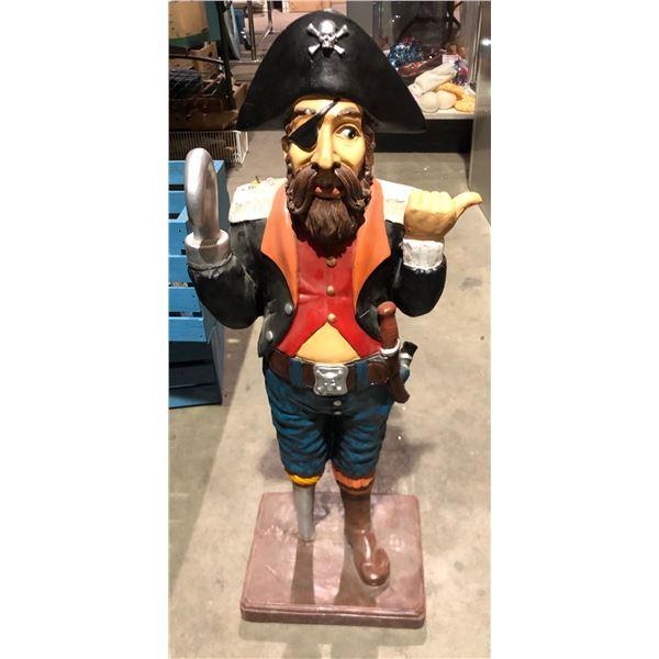 "standing pirate garden statue from Disney 32"" x 12"""