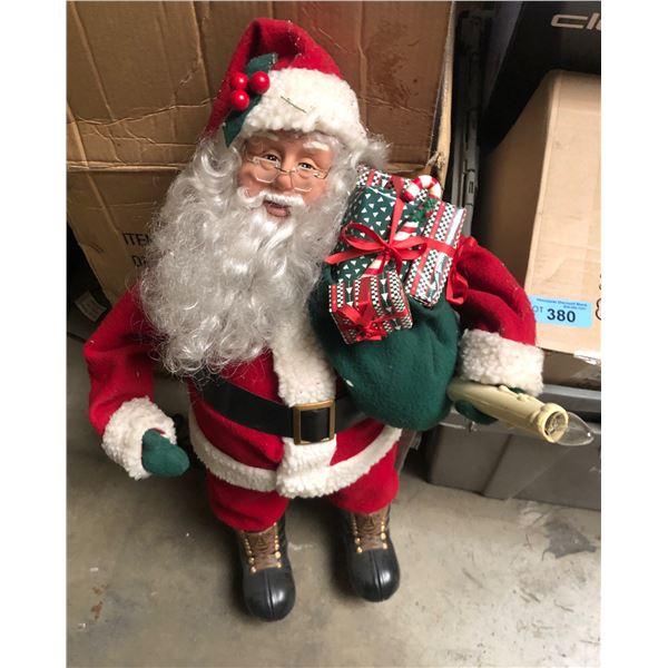 large lot of miscellaneous items including Christmas decor, box of facial cleanser, snowboard boots
