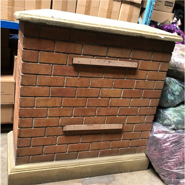 large Styrofoam brick wall set dec - approx. 60 in height 26 in width 58 in length