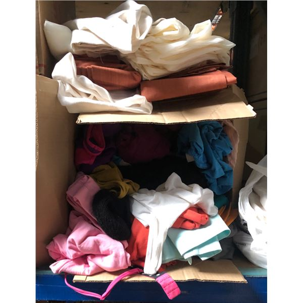 Lord of miscellaneous items including pillows clothing & sheets