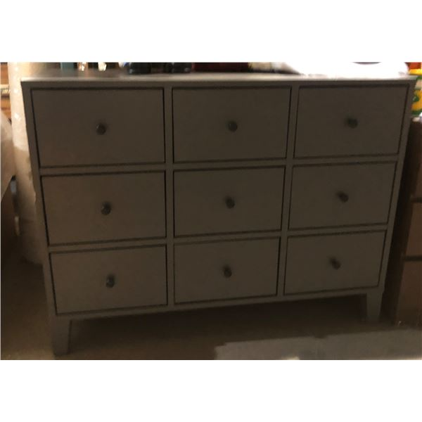 9 drawer metal cabinet - approx. 36 in tall 46.5 in length 17 in wide