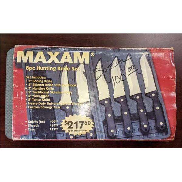 Maxam 8pc Hunting knife set
