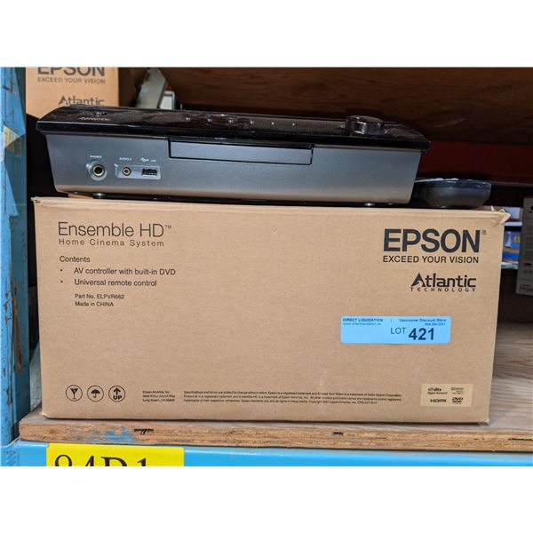 Epson Ensemble HD AV controller with built-in DVD and universal remote control