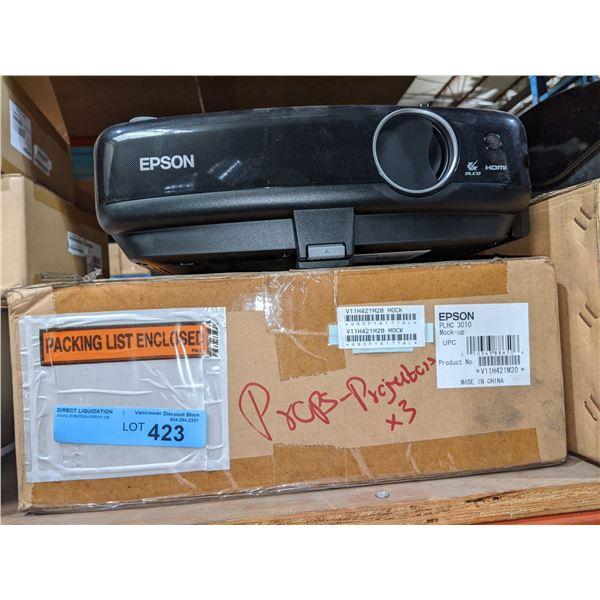 three prop Epson projectors