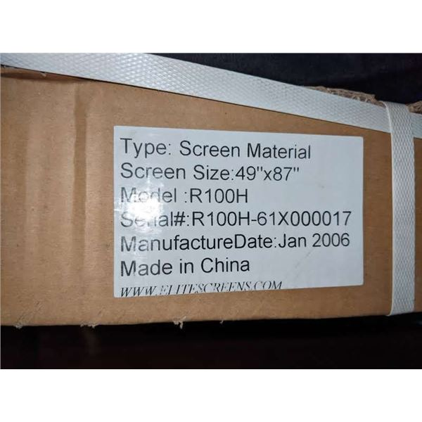 A lot of projection screens and screen materials