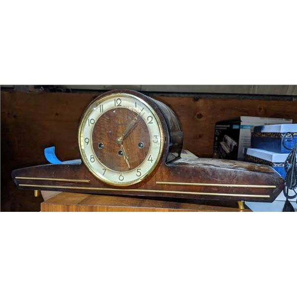 """Vintage Forestville clock from the show - 21.5"""" (W) x 9""""(H) x 5""""(L)"""