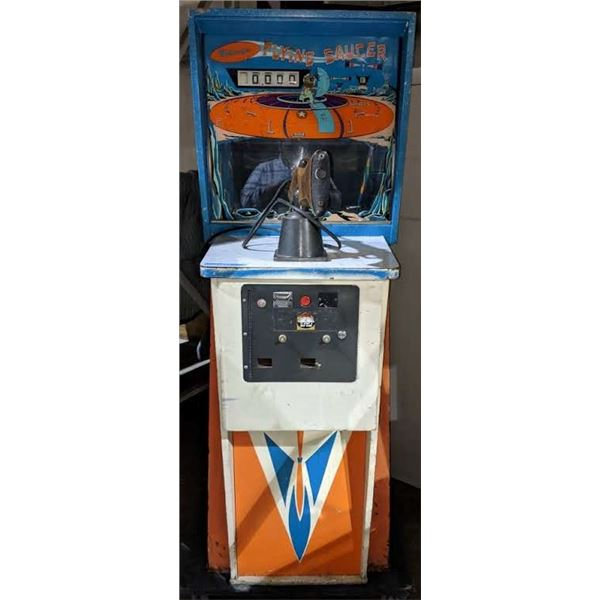"""Midway's Flying Saucer Arcade Game approx. 69"""" H x 34"""" D x 26"""" W"""