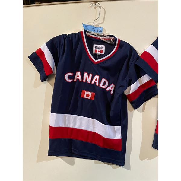 Approx. 7 Kids Canadian Jerseys