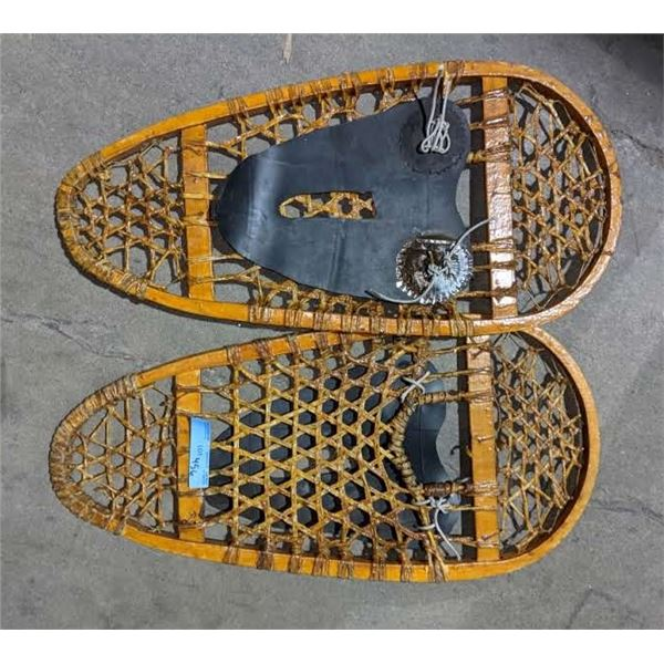 A pair of snowshoes