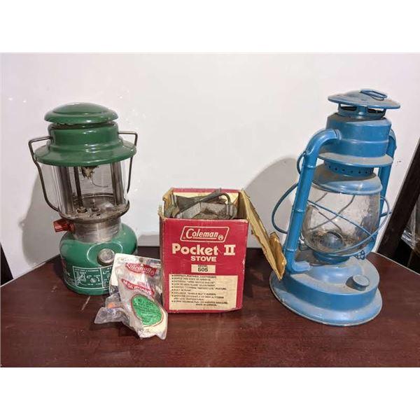 A box lot of Vintage Lanterns