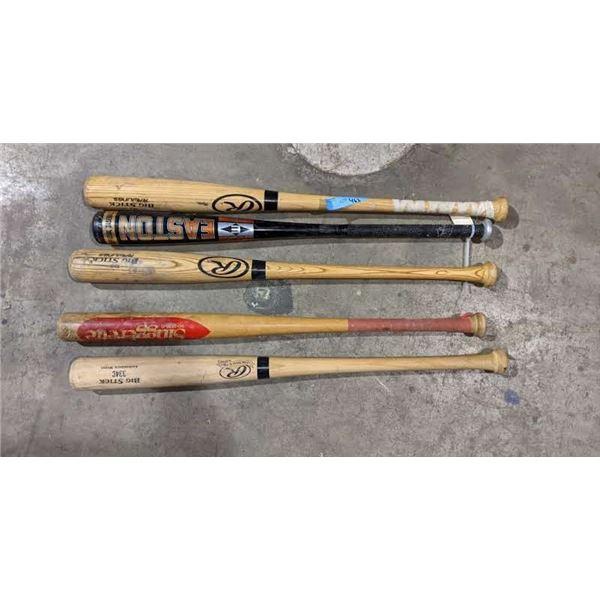 Five baseball bats