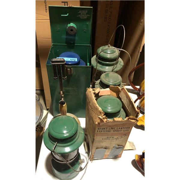 A lot of vintage lanterns (approx. 6 pieces)