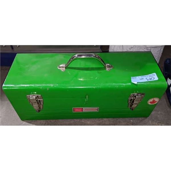 Metal toolbox with assorted tools and Addidas sports bag with tools and extension cord