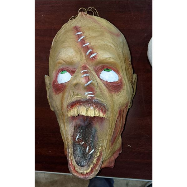 """Creepy Severed head & Mummy Mask from an old haunted house in Vancouver """"Dunbar House"""""""