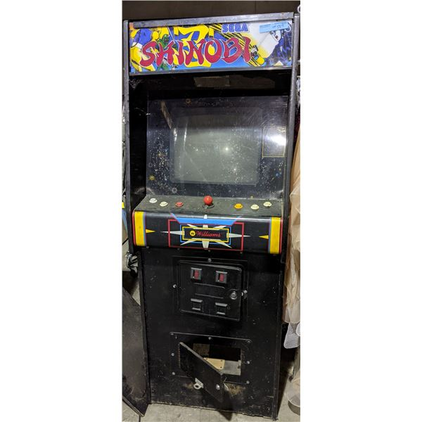 Original Williams Stargate Cabinet that has been converted to Shinobi (as-is)