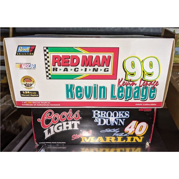 1:24 Scale Diecast Replica Kevin Lepage Nascar (1 of 2508) and 1:24 Scale Stock Car of Sterling Marl