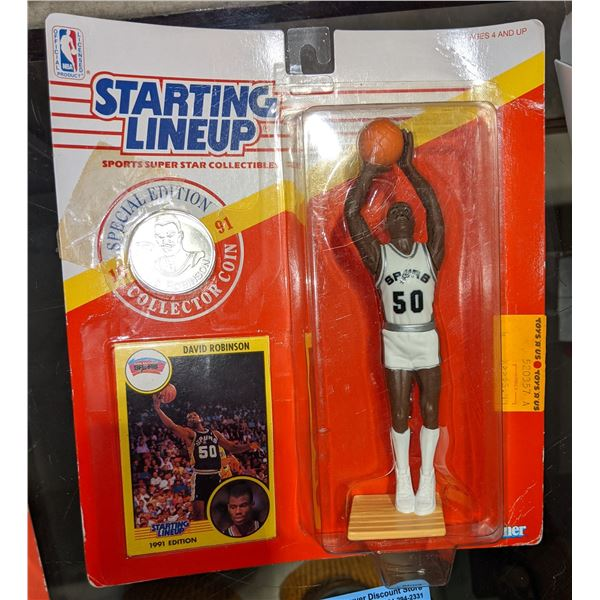 David Robinson collector coin and action figure