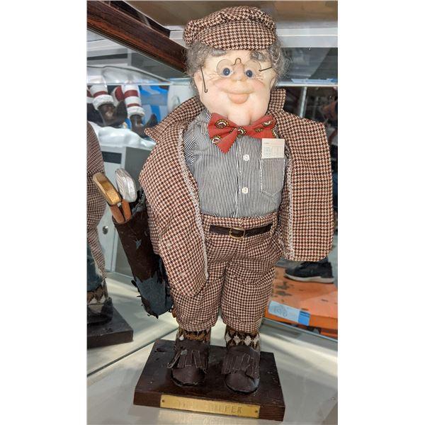 Vintage 'the golfer' stuffed statue