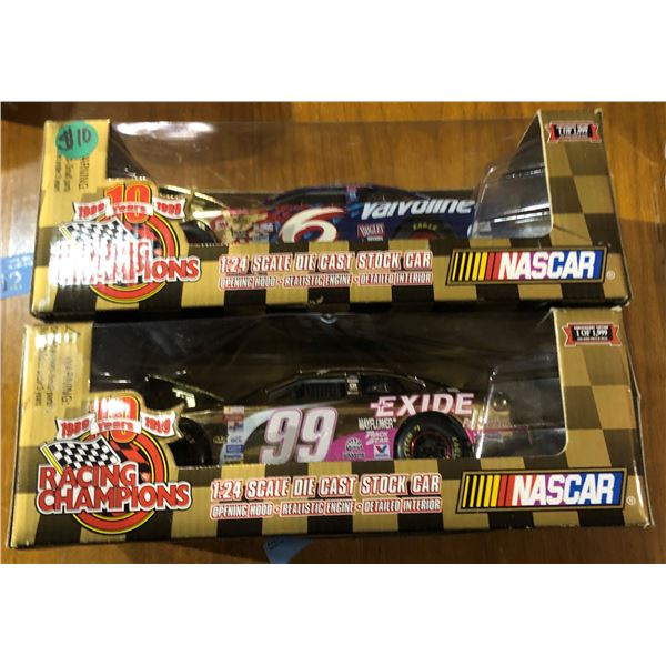 Two 1:24 Scale Die cast stock car anniversary edition (1 of 1999)
