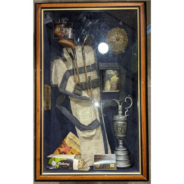 Vintage Golf set in a wooden showcase - Highly Collectible