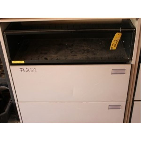 4 DRAWER METAL CABINET (CONTENTS NOT INCLUDED)