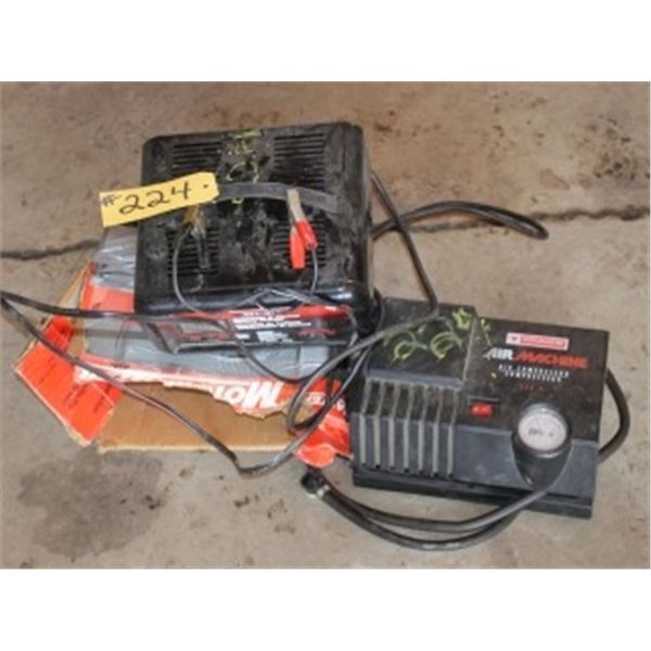 BATTERY CHARGER & AIR COMPRESSOR
