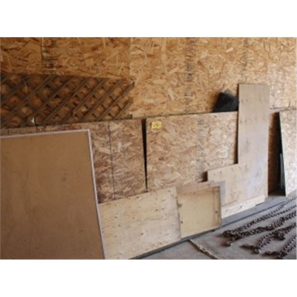QUANTITY OF WOOD (LOCATED ALONG WALL)