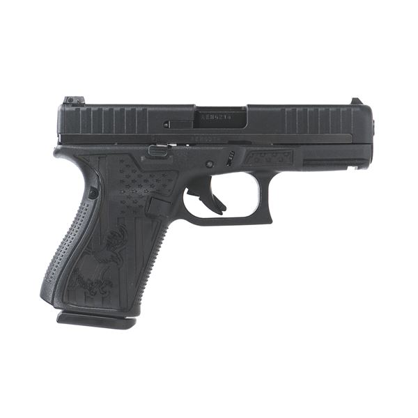 Glock 44 .22lr Black with Eagle and Flag