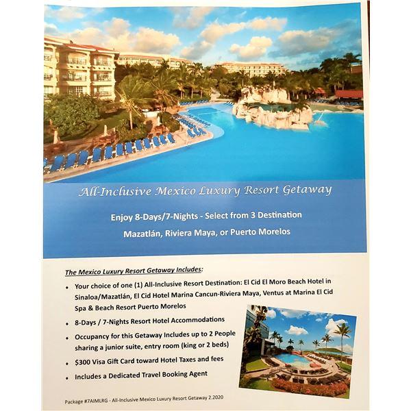 All Inclusive Mexico Luxury Resort Getaway