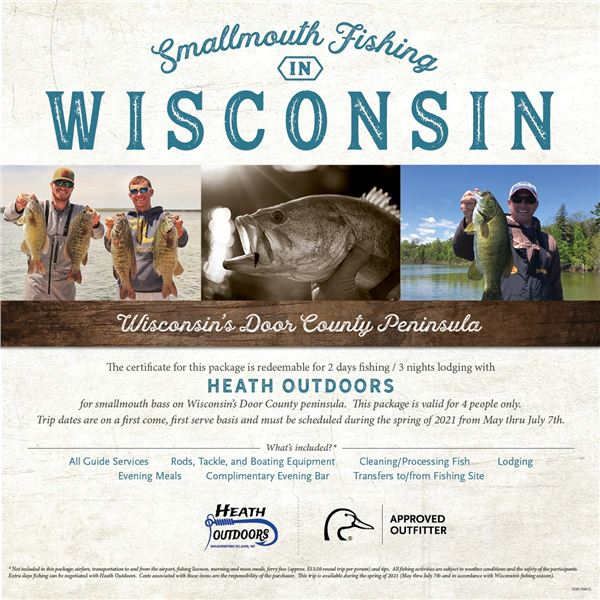 Smallmouth Bass fishing trip for four