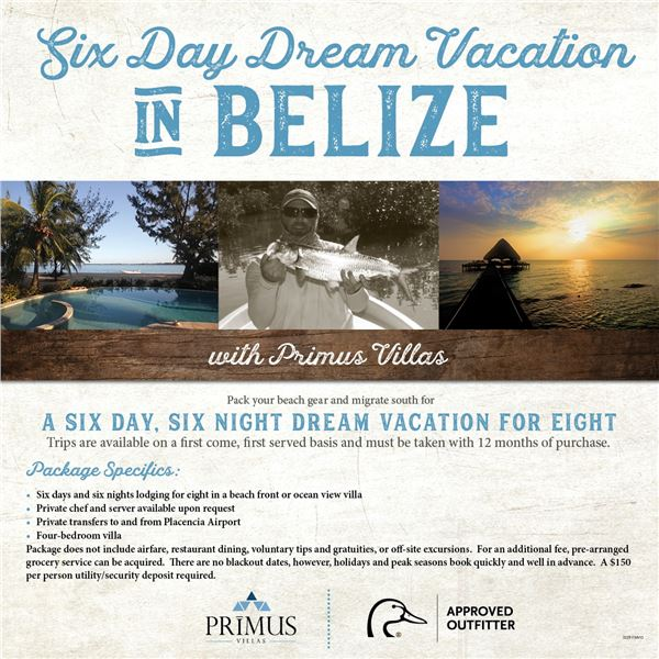Belize Dream Vacation For 8