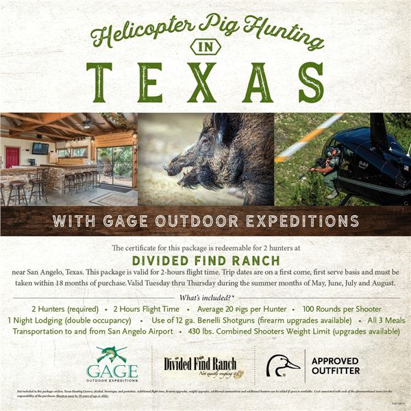 Texas Helicopter Pig Hunt for 2