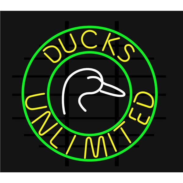 DU Logo Neon Sign
