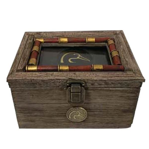 """RUSTIC WOODEN KEEPSAKE BOX WITH 4"""" X 6"""" PICTURE FRAME LID"""