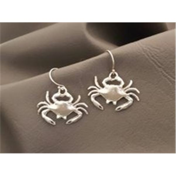 Crab Earrings and Necklace (Matching Set)