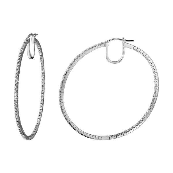 Natural 4.83 CTW Diamond Earrings 14K White Gold - REF-421Y2N