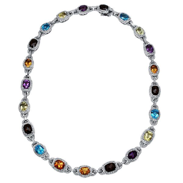 Natural 4.7 CTW Diamond Necklace 18K White Gold - REF-885R6K