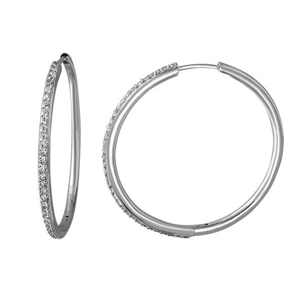 Natural 0.81 CTW Diamond Earrings 14K White Gold - REF-116M3F