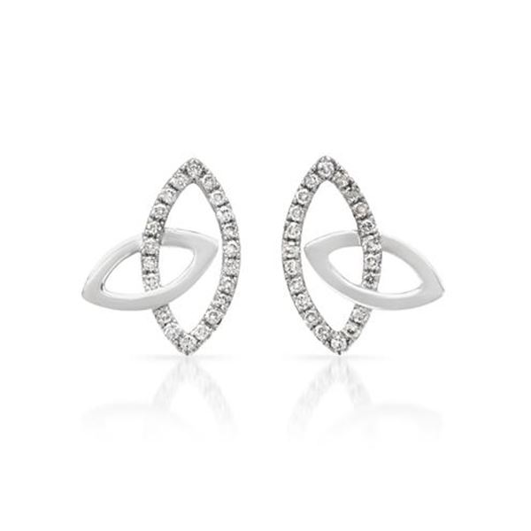 Natural 0.29 CTW Diamond Earrings 14K White Gold - REF-31T5X